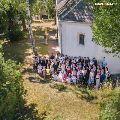 Hochzeitsfoto mit einer Drone